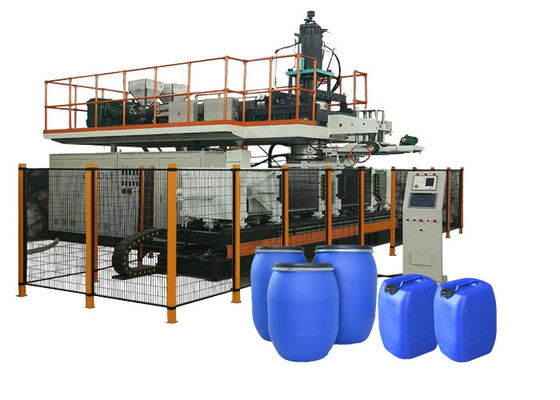 China 30L Plastic Jerry Can Extrusion Automatic Blow Moulding Machine 6 * 3.5 * 3m Size factory
